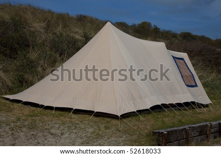 a tent on a dutch camping