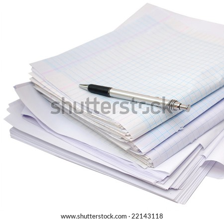 a testing papers in classroom - stock photo