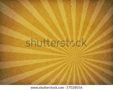A texture image of old fiber paper cardboard with vector like sun rays