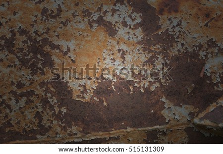 A texture is rust.