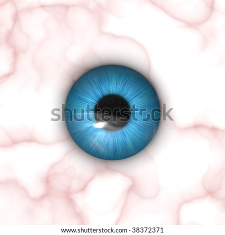 A texture of a blue eye with lots of detail. - stock photo