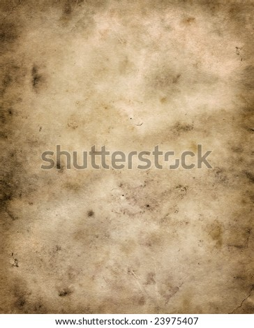 A Texture of a Old Dirty Parchment - stock photo