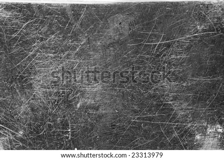 A Texture of a Scratched Metal Plate - stock photo