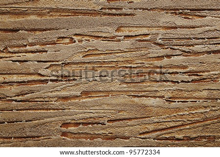 a texture of modern plaster wall in brown colors - stock photo