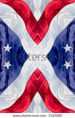 A 4th of July American Flag pattern - stock photo