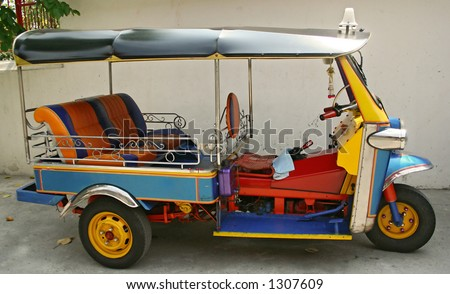 a thailand motor taxi - stock photo