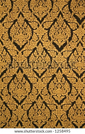 a thailand temple pattern - stock photo