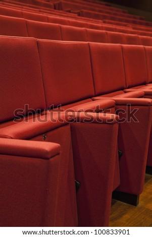 A Theater empty seats. - stock photo