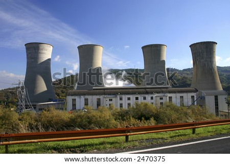 A thermal electricity generating station.