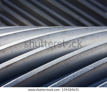A Thread of gear close up - stock photo