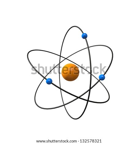 a three-dimensional representation of an atom for the icon view