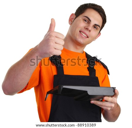 A thumbs up decorator - stock photo