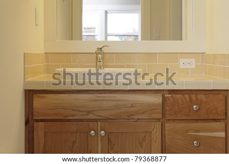 Bathroom Sinks That Sit On Top Of Counter tiled bathroom sink counter sits on stock photo 79368877