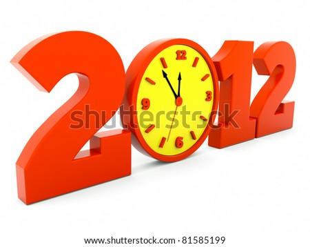 a time concept 2012 - stock photo