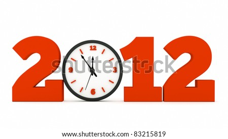 a time concept with clock - stock photo