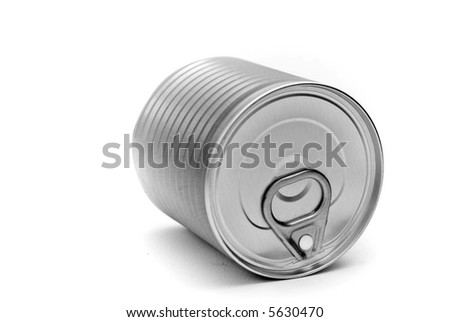 A tin can isolated on a white background