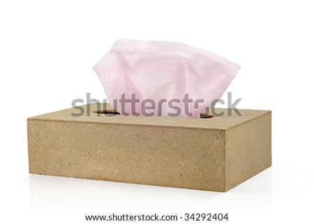 A tissue box - stock photo