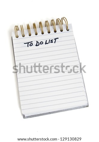 """A """"To Do List"""" for yourself and your partner. - stock photo"""