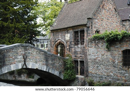 A tollbooth in Brugge ia small village  called The  Venice of Belgium