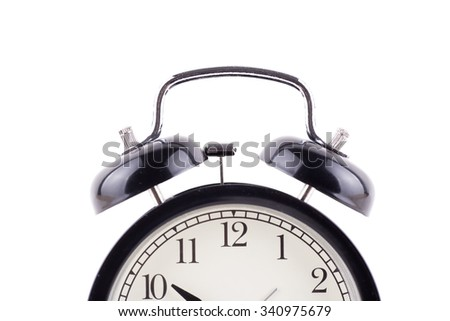 a top view of an alarm clock black