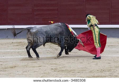 A torero (or matador) in the bullring. - stock photo