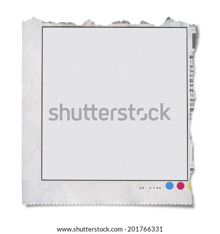 A torn out classified ad - stock photo