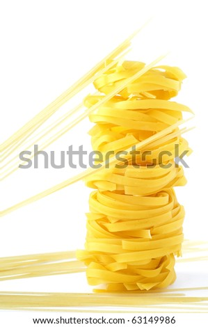 A tower from pasta