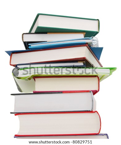 A tower of studying in class - stock photo