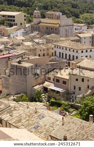 A town scenery in Capdepera on Majorca, one of the Balearic Islands, Spain.