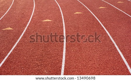 A track used for running, jogging, races and track and field events.