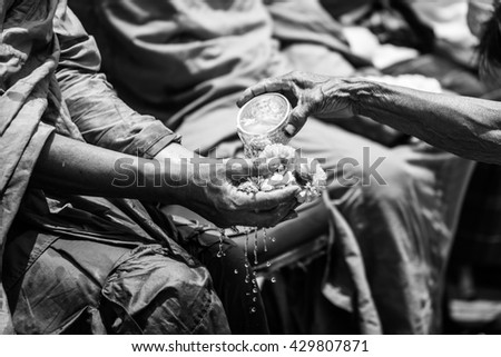 A tradition made popular in Thailand Songkran..Songkran is Thailand 's New Year celebration. - stock photo