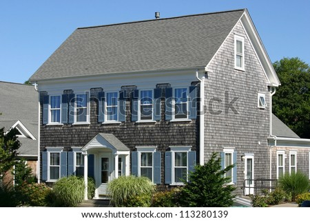 A traditional Cape Cod house in Provincetown, Massachusetts - stock photo