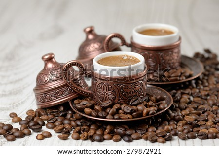 A traditional cup of turkish coffee. - stock photo