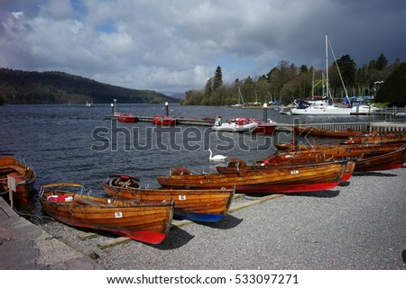 A traditionnal  wood boats in pier Scotland