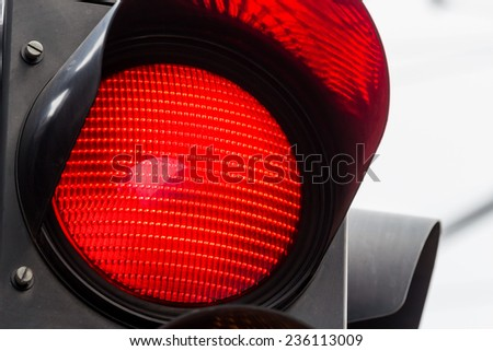 a traffic light shows red light. symbolic photo for maintenance, end. - stock photo