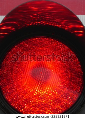 a traffic light shows red light. symbolic photo for maintenance, exit and risk. - stock photo