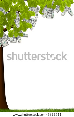 A tree with money growing on it - stock photo