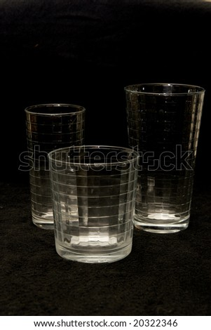 A trio of drinking glasses - stock photo