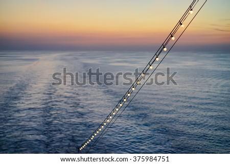 A trip with the ship - stock photo