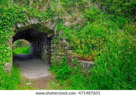 A tunnel along the path, Kinsale, County Cork, Ireland