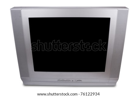 A TV set isolated on white background