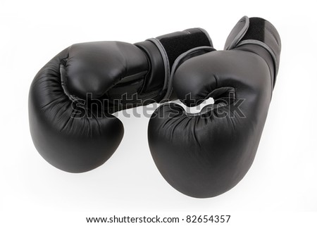A two boxing glove on a white background