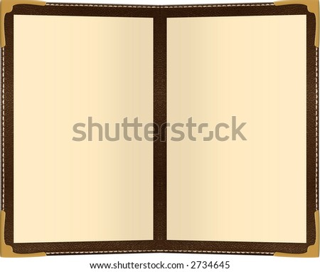 a two page menu isolated on white - stock photo
