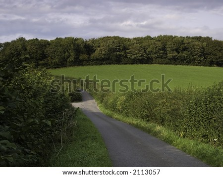 A typical English country side shot. - stock photo