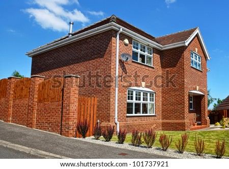 A typical English house - stock photo