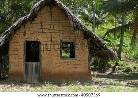 A typical hut from northeast of Brazil - stock photo