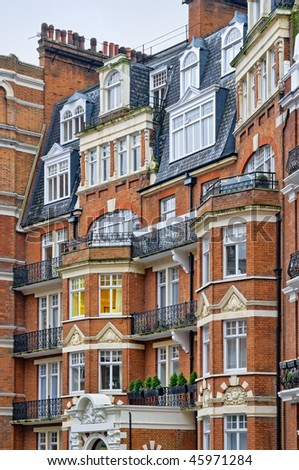 A typical mansion building in London. - stock photo