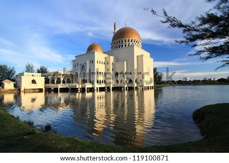 A typical Muslim mosque - stock photo