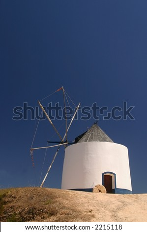A typical Portuguese windmill - stock photo