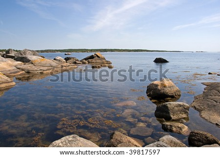 A typical scene of a swedish summerday in the archipelago. - stock photo